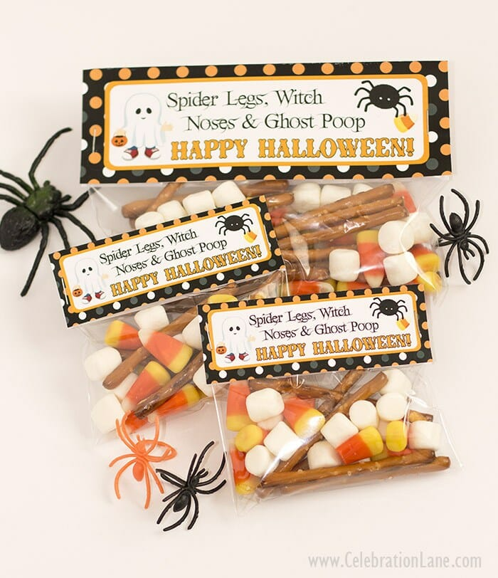 30 Free Printable Halloween Treat Boxes, Bags, Toppers And