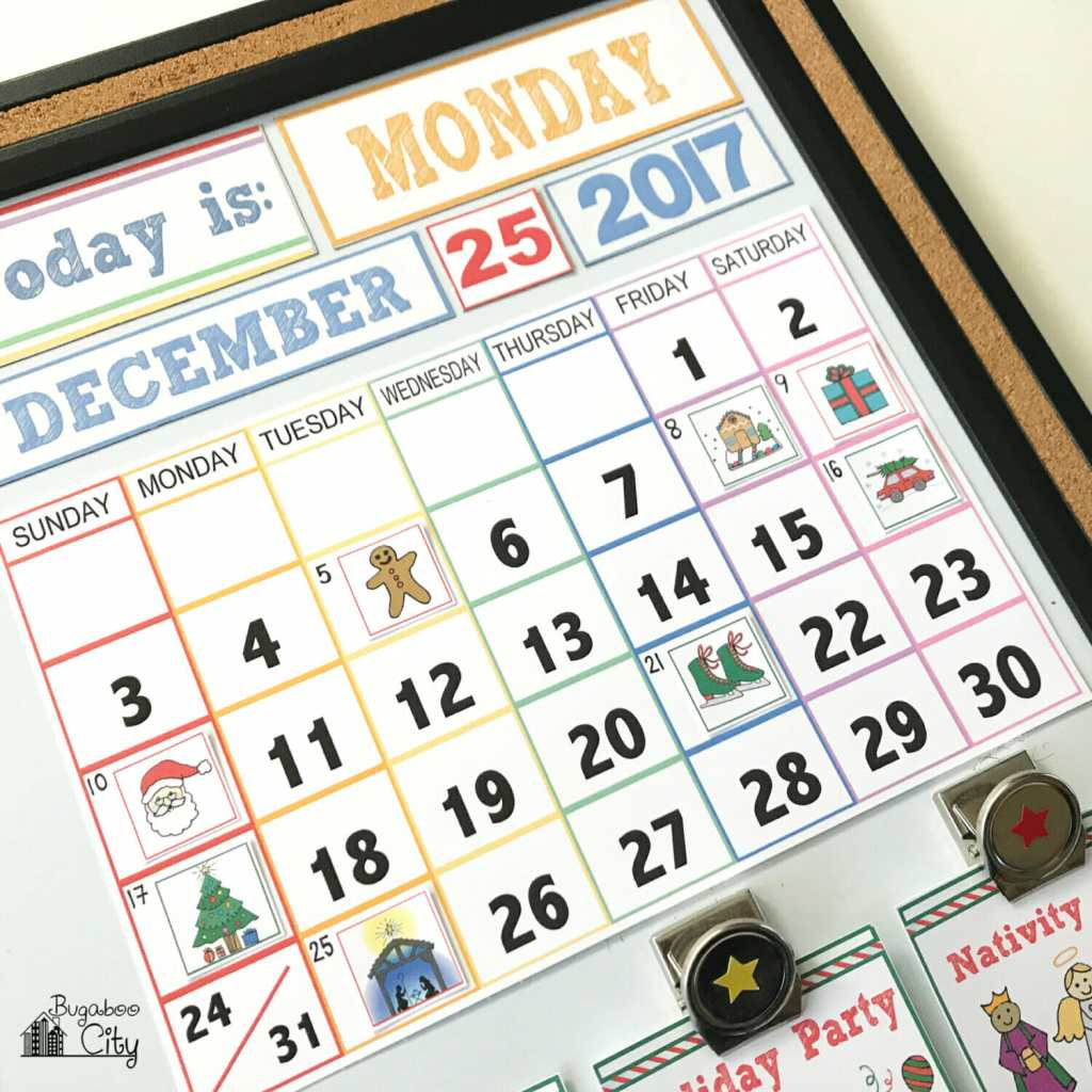 Children's Calendar Christmas Activity Cards - BugabooCity