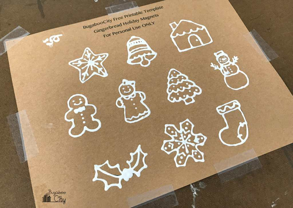 DIY Gingerbread Holiday Magnets