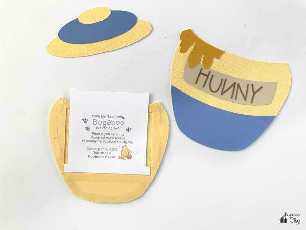 Winnie the Pooh Slider Card and Party Invitation - BugabooCity