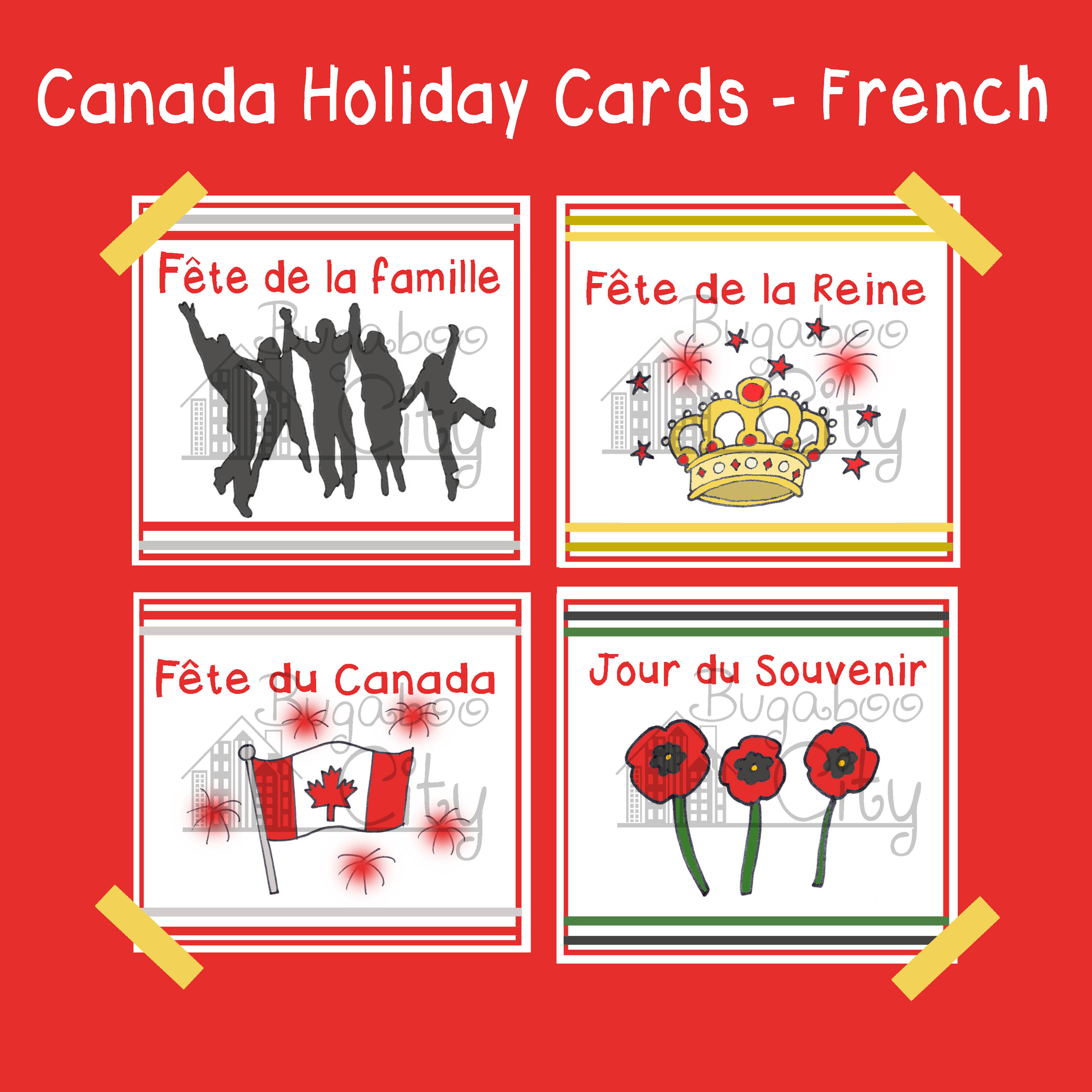 Canadian Holiday Cards In French
