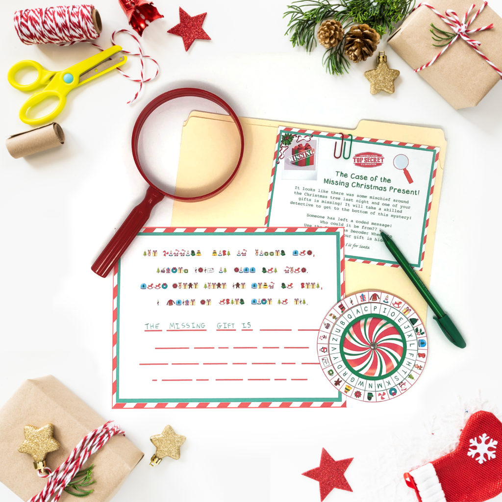 Christmas Secret Decoder Wheel