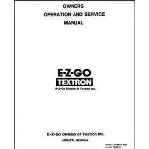 EZGO Marathon Service Manual (Fits 19891993)