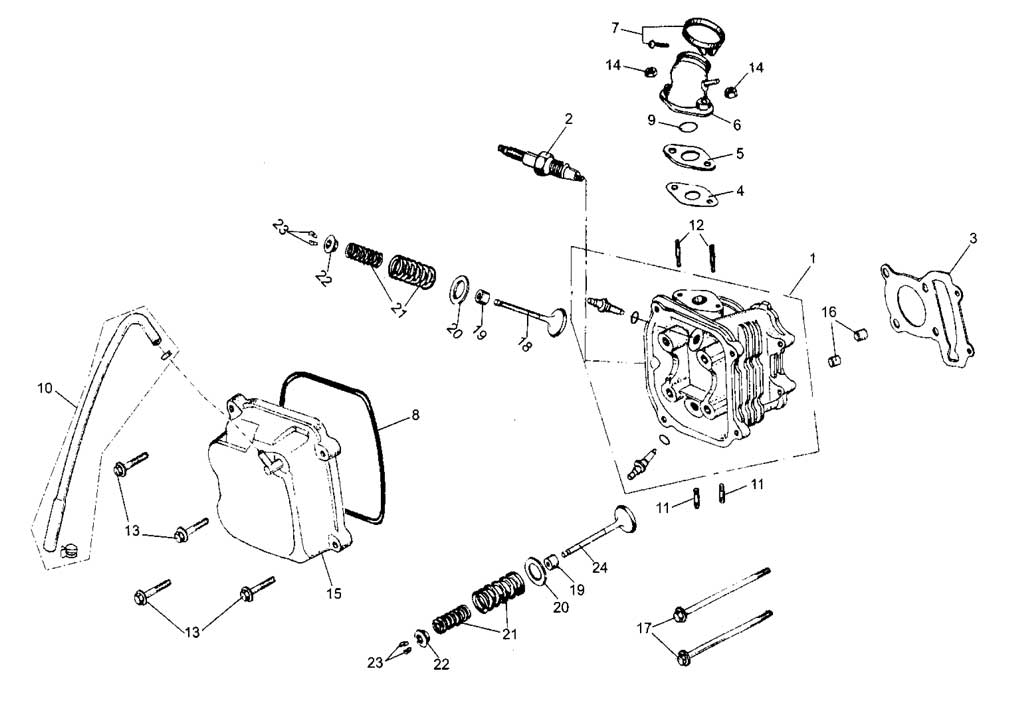 Hammerhead 250ss Super Sport Cylinder Comp Parts List
