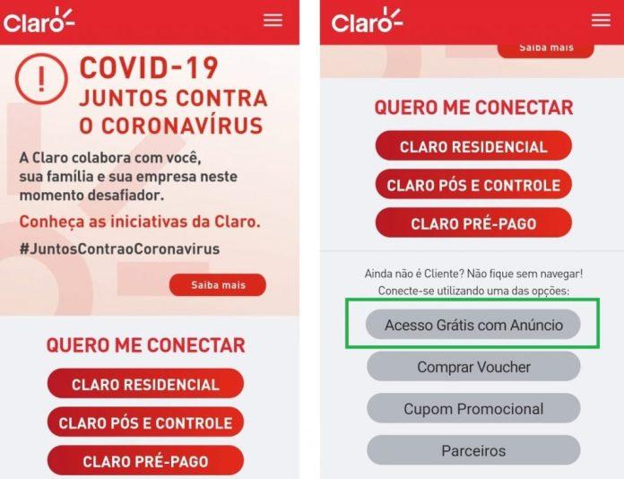 Wi-fi Grátis da Claro na Quarentena