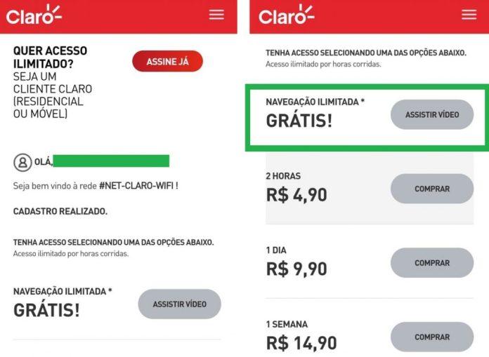 Wi-fi Grátis da Claro