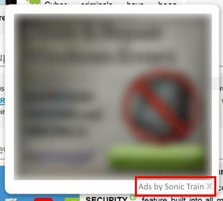 sonic train ads