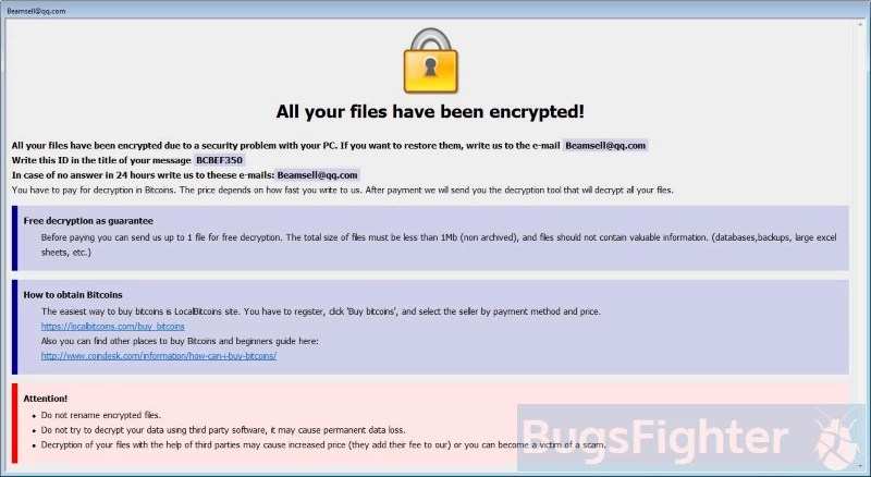 How to remove Bip Ransomware and decrypt  bip files | BugsFighter