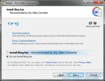 Example 1 of Bing.com installer