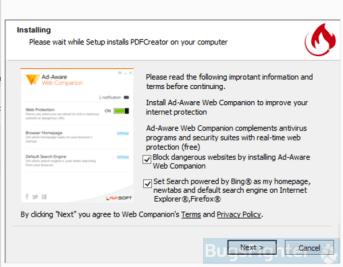 Example 2 of Bing.com installer