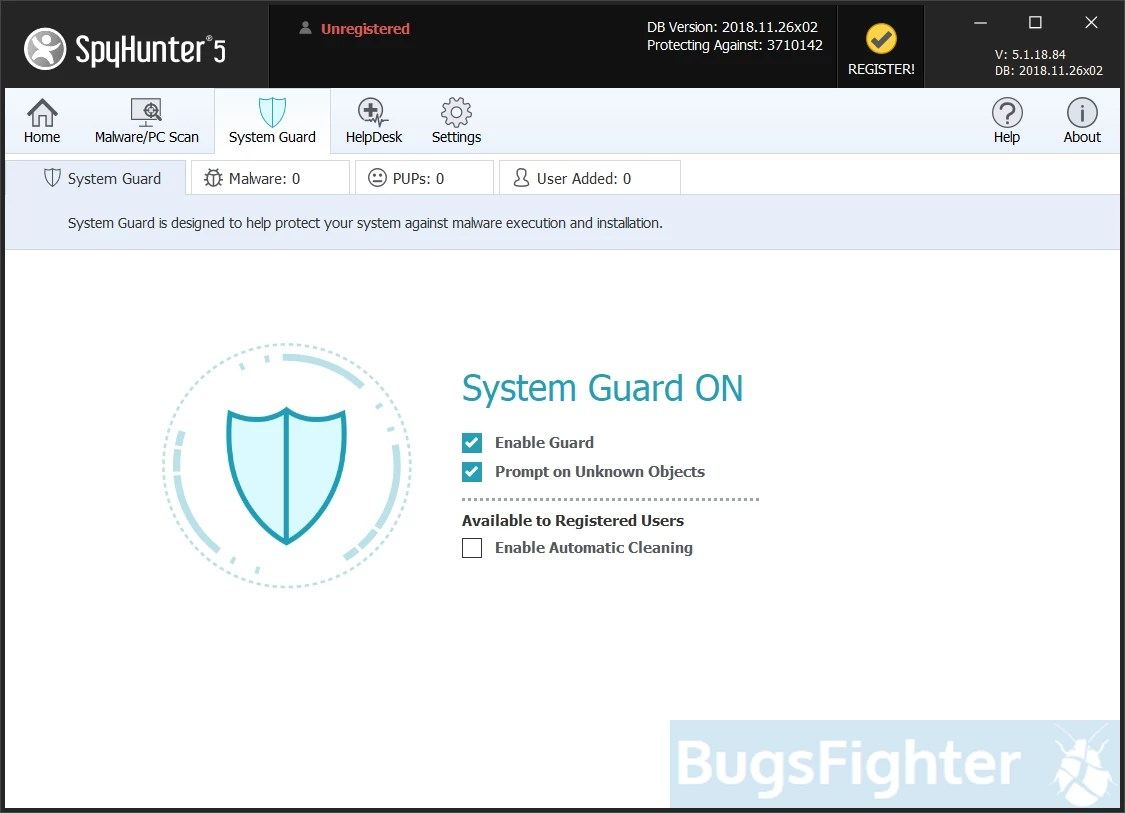 SpyHunter 5 Системная охрана