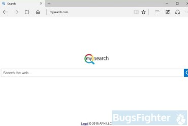 Mysearch.com in Microsoft Edge