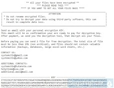 GlobeImposter Ransomware (.systems32x)