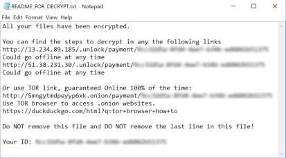 Muhstik Ransomware ransom note