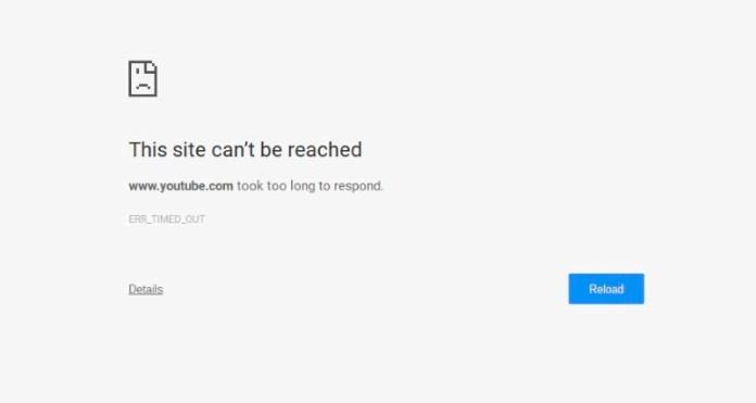 err_timed_out error in google chrome