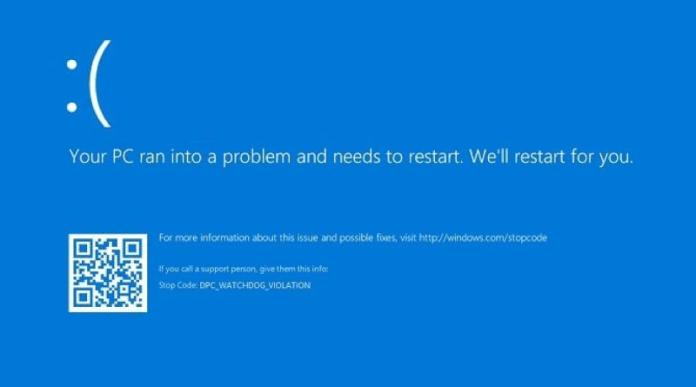 dpc_watchdog_violation error in windows 10