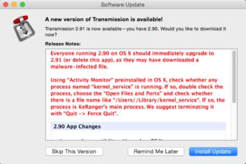 KeRanger Ransomware installer