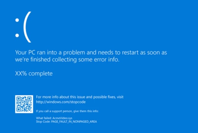 PAGE_FAULT_IN_NONPAGED_AREA error