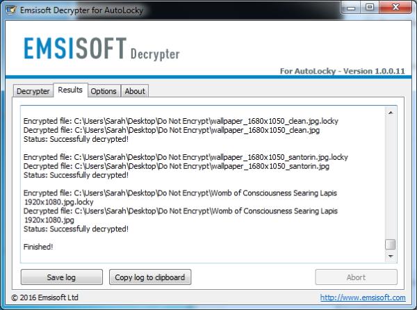 Emsisoft Decryptor for AutoLocky