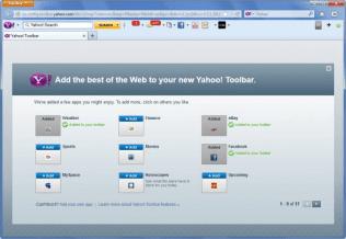 Yahoo Toolbar in Firefox on Windows