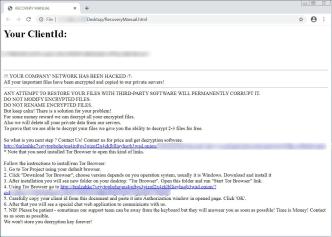 Mount Locker Ransomware (ransom note)