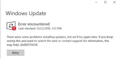 Windows Update error 0x80070424 (sample 2)