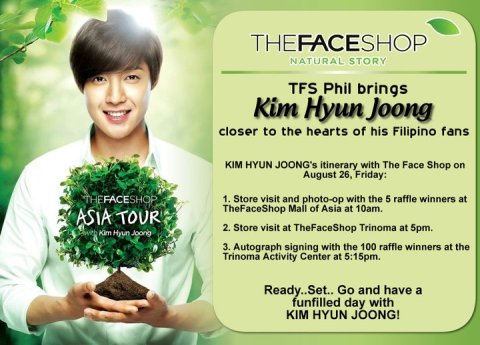 Kim Hyun Joong in Manila for The Face Shop