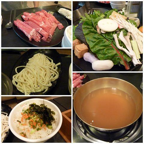 Korean style shabu-shabu