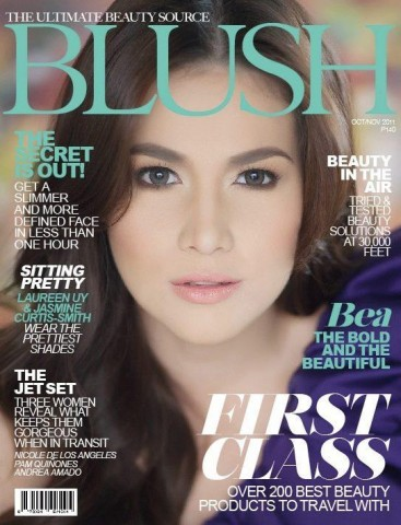 """Bea Alonzo on the cover of """"Blush"""" magazine (from her FB fan page)"""