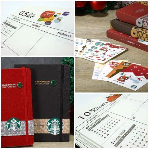 Starbucks 2012 Planner - pictures from Starbucks Korea