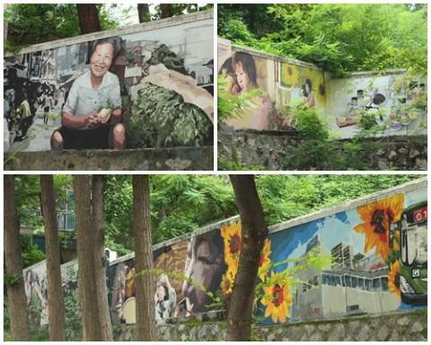 The right exterior wall of Shin Hyundae Apartment