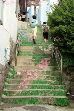 Colorful stairs..