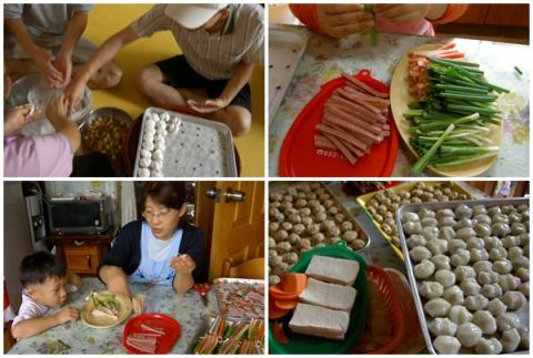 Chuseok 2005 when we used to celebrate it at my parents-in-law's house in the province.