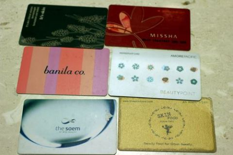 Point cards from cosmetic stores...
