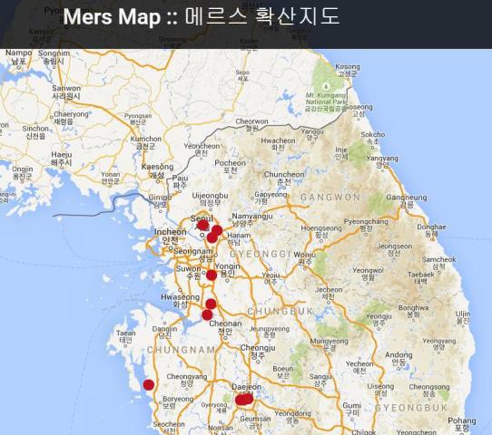 Screenshot of http://www.mersmap.com