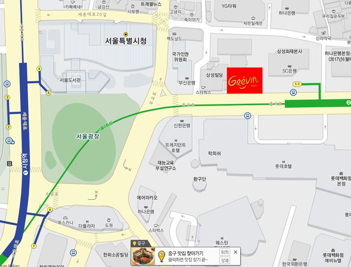 Map to Grevin Museum Seoul