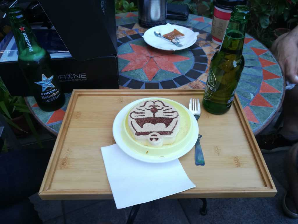 A cat cake in Shenzhen