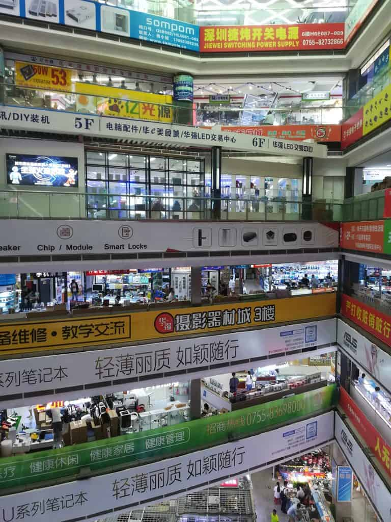 Inside a Shenzhen electronics mall