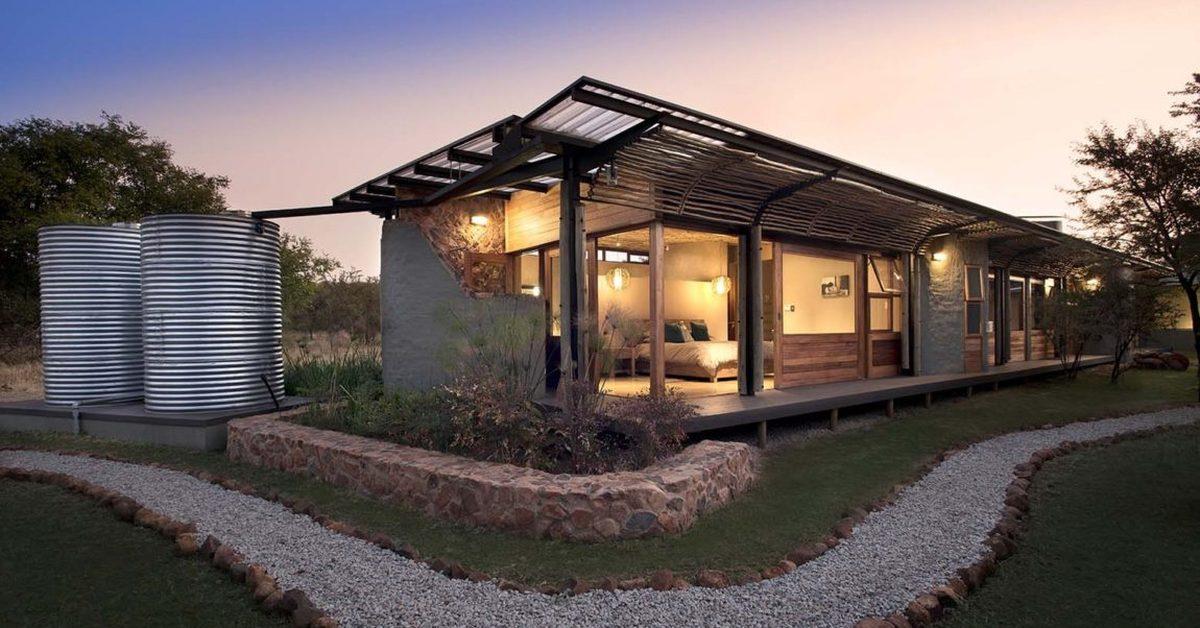terre pierre et bois pour une maison sud africaine qui preserve son environnement