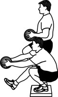 Medicine Ball Exercises: One-Leg Squat