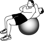 Stability Ball Exercises: Stability Ball Crunch