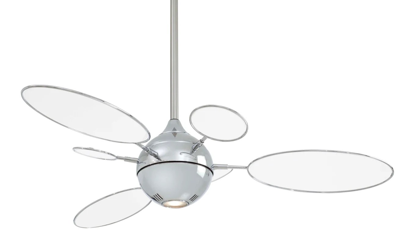 Minkaaire F596 Pn Tl Polished Nickel Ceiling Fan