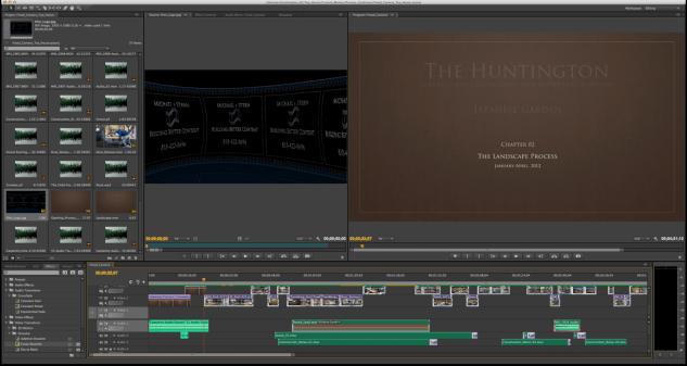 Adobe Premiere Editing Workspace