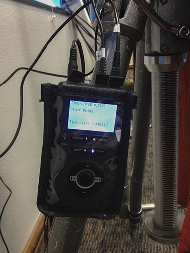close up of Promote Controls intervalometer