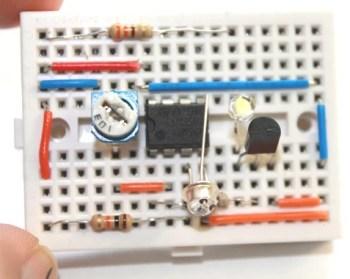 Dark Sensor using 741
