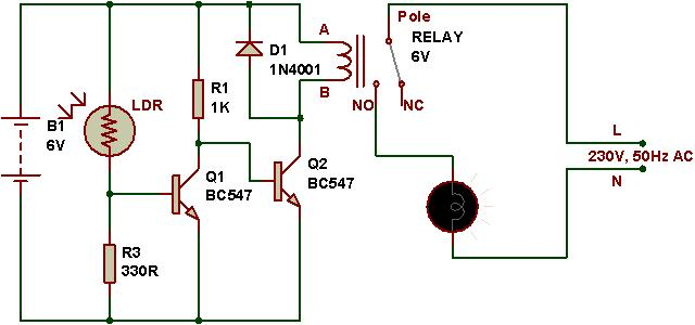 how to use a relay  buildcircuit