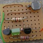 Dark sensor on breadboard