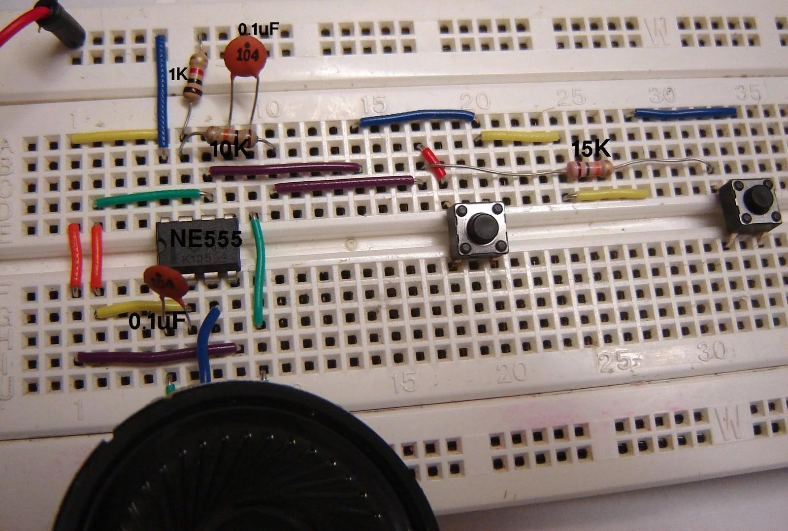 555 Simple Toy Electronic Organ Circuit 555circuit Circuit