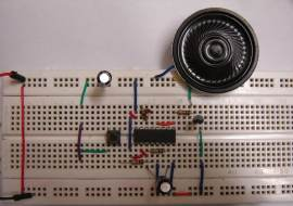 Remote operated musical bell using UM3481