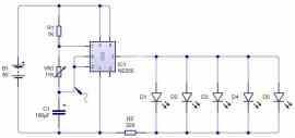 Flasher circuit using NE555 timer- Basic electronic project